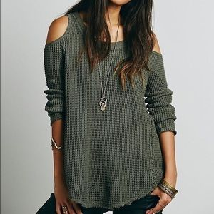 Free People green Sunset Open Shoulder thermal
